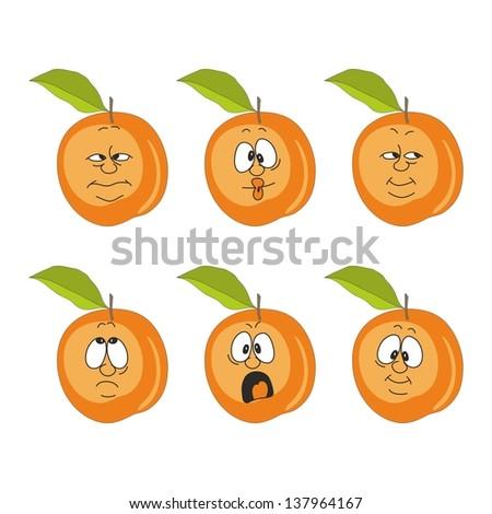 Emotion cartoon peach set 007 - stock photo