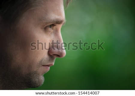emotion portrait  - stock photo