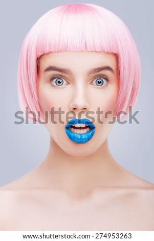 emotional portrait - stock photo