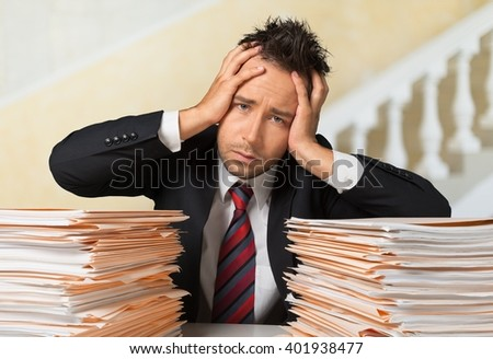 Emotional Stress. - stock photo