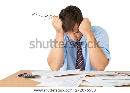 Emotional Stress, Bankruptcy, Finance. - stock photo