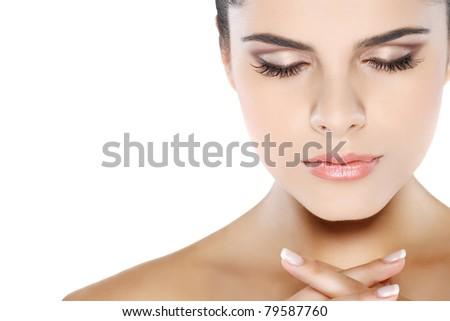 emotions, cosmetics - stock photo