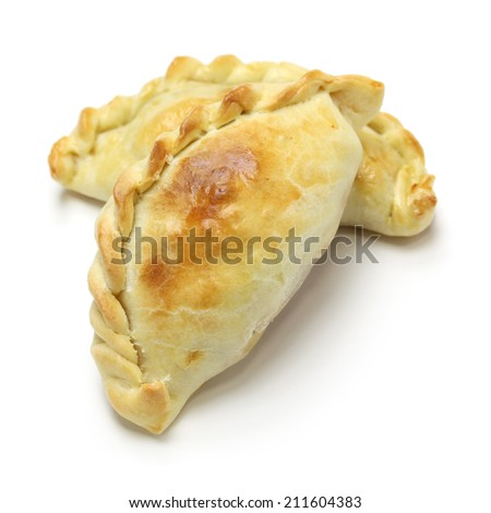 empanadas de pollo, chicken empanada, argentina food - stock photo