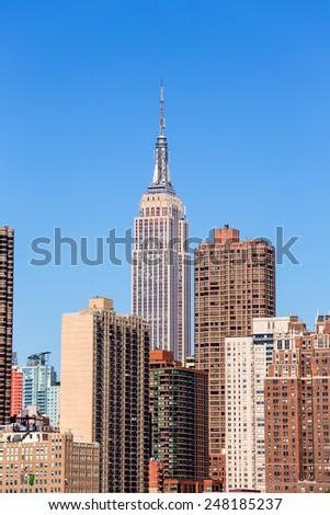 Empire State Building in Manhattan New York City USA - stock photo