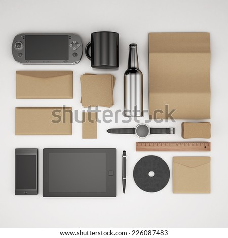 emplate for branding identity. For graphic designers presentations and portfolios. - stock photo