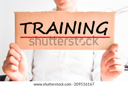 Employee ask for training to her boss - stock photo