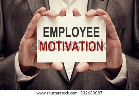 Employee Motivation Concept - stock photo
