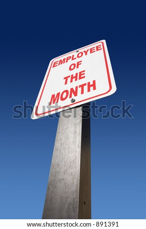 Employee of the month sign - stock photo
