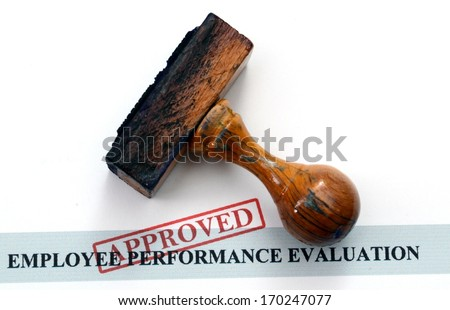 Employee performance evaluation form - stock photo