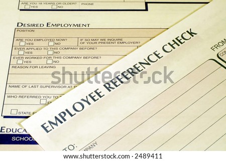 Employee Reference Check Form - stock photo