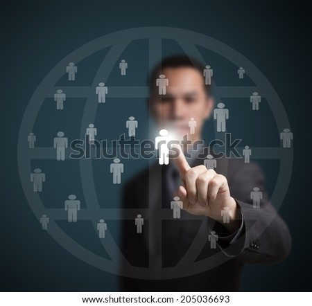 employee selected by human resource manager - stock photo