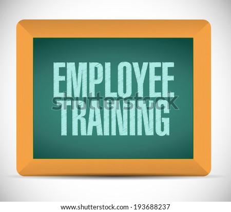 employee training message illustration design over a white background - stock photo