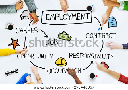 Employment Career Occupation Job Contract Concept - stock photo