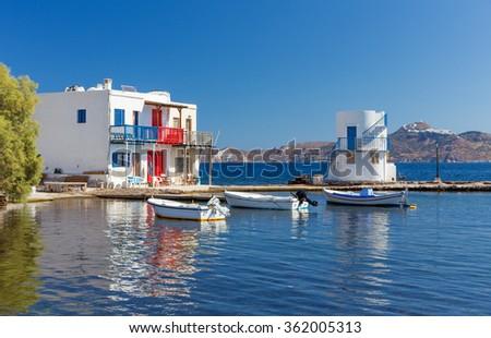 Empourios, Milos island, Cyclades, Greece - stock photo