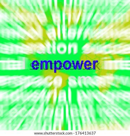 Empower Word - stock photo