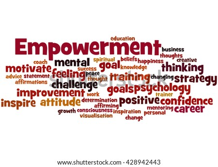 Empowerment, word cloud concept on white background. - stock photo