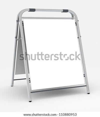 Empty advertising stand, 3d rendering - stock photo