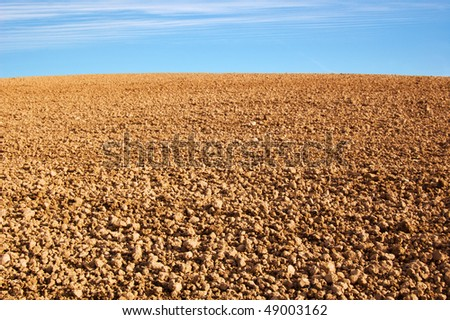 empty agricultural ground - stock photo