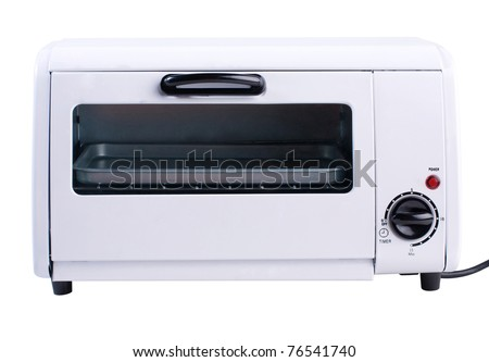 Empty and clean oven the one of necessary kitchenware isolated - stock photo