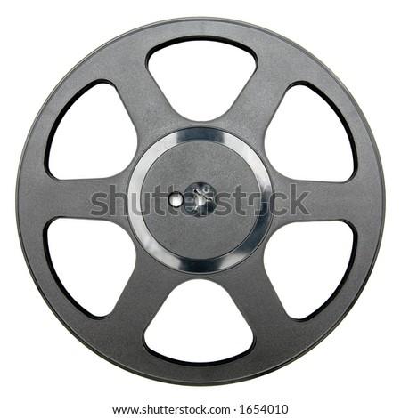 Empty audio tape reel - stock photo