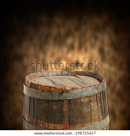 empty barrel for product display montages - stock photo