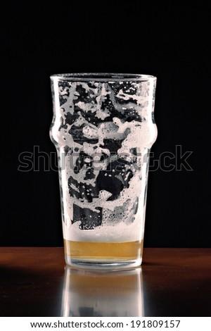 empty beer glass - stock photo