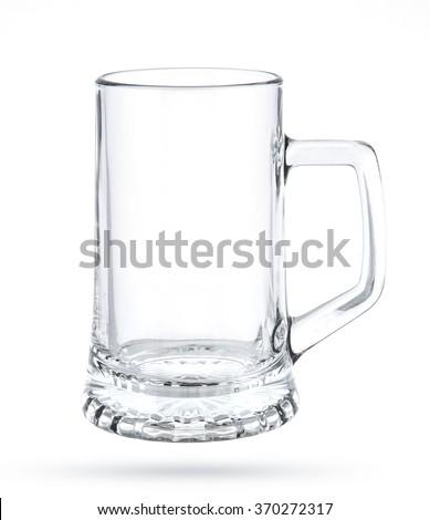 Empty beer mug isolated on white background - stock photo
