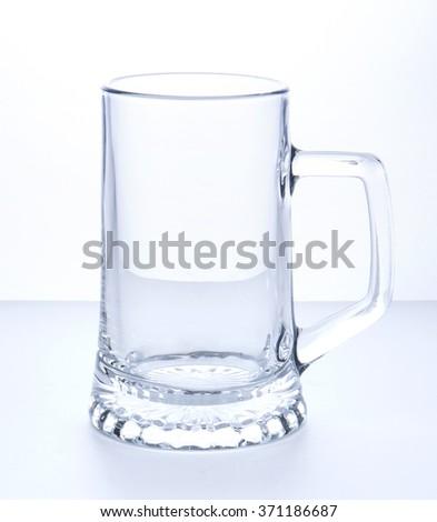 Empty Beer Mug on a white background - stock photo