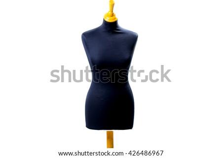 empty black mannequin - stock photo