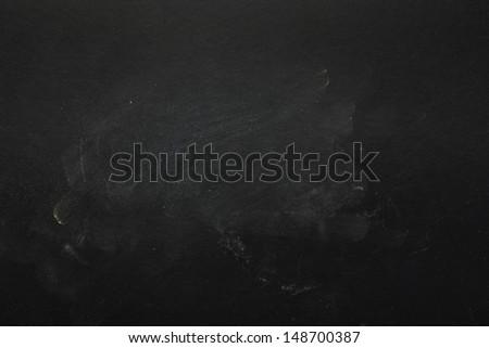 Empty Blackboard Background. Macro shot - stock photo