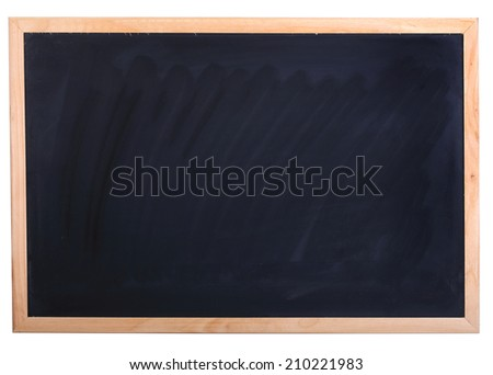 empty blackboard isolated for education background - stock photo