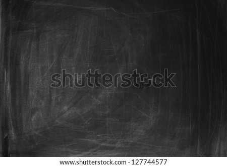 Empty blackboard to put your own text in - stock photo