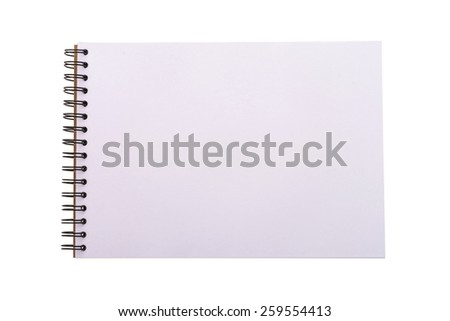 Empty blank note book isolated on white background - stock photo