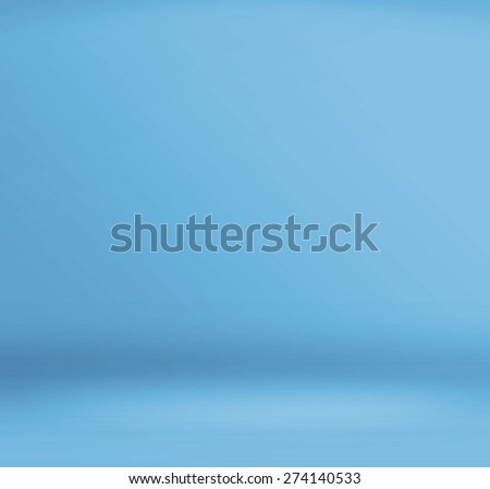Empty blue studio room background ,Template mock up for display of product,Business backdrop - stock photo