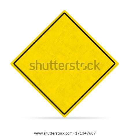empty board road sign - stock photo