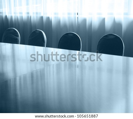 empty board room, business concept. - stock photo