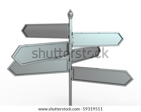 Empty boards. Solution. 3d - stock photo