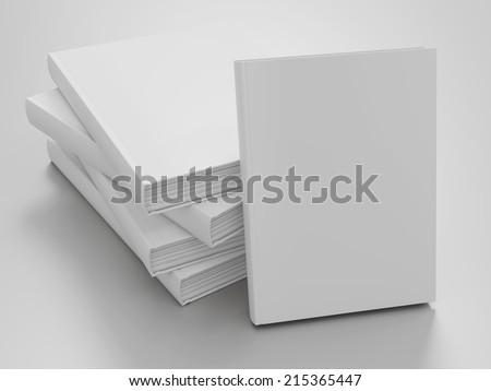 Empty book mockup template - stock photo