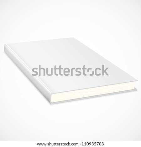 Empty book with white cover - stock photo