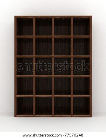 empty bookshelf - stock photo