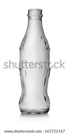 Empty bottle of cola isolated on a white background - stock photo
