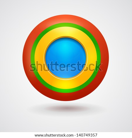 Empty bright colorful button. Interface element - stock photo