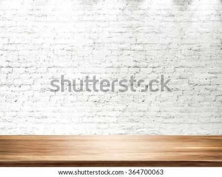 Empty bright interior. 3D render - stock photo