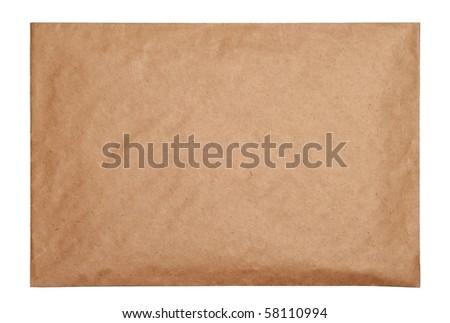 Empty brown envelope - stock photo