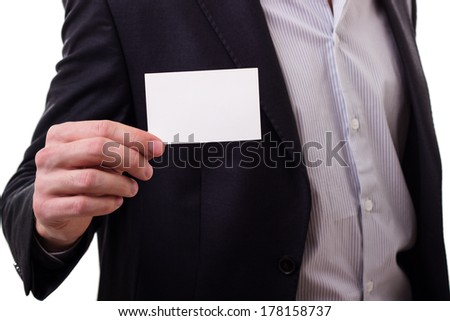 Empty business card  - stock photo