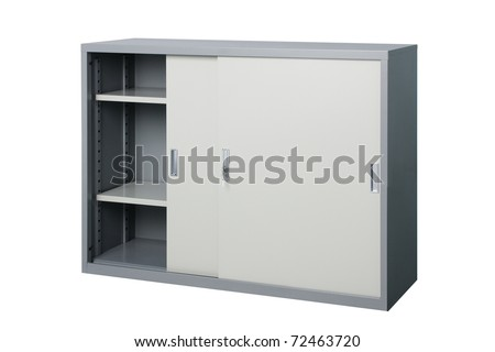 Empty cabinet to putting your ideas and creative inside - stock photo