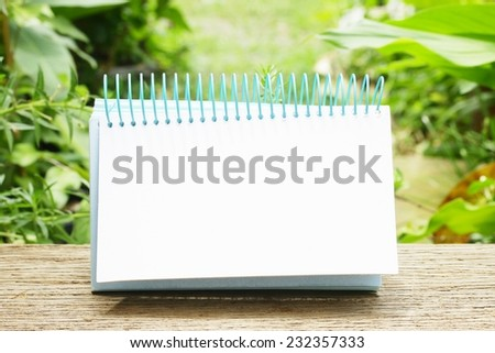 Empty calendar - stock photo