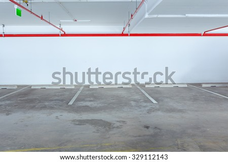 Empty car parking line , can use as background - stock photo