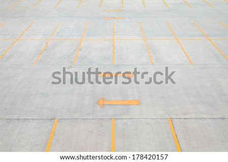 Empty car parking lot. - stock photo
