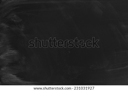 Empty chalk board Background/Blank Blackboard Background Texture - stock photo